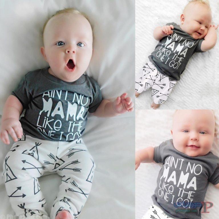 2017 Summer new baby boy girl clothes fashion newborn Short sleeve T shirt pants 2pcs Infant