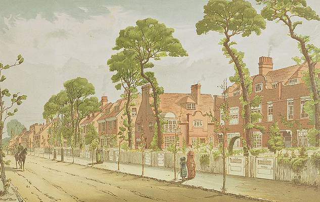 1 view of bedford park 1882 english school 1